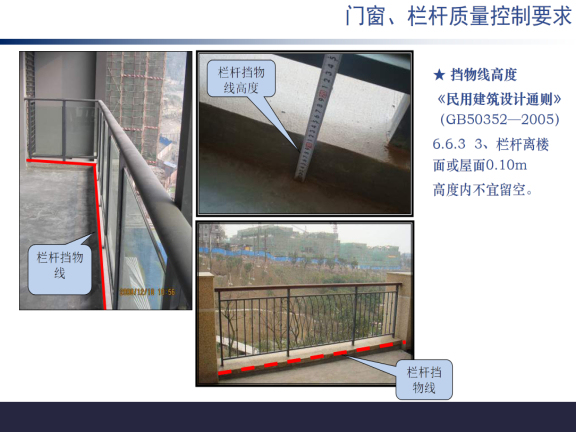 建筑工程门窗、栏杆工程质量控制