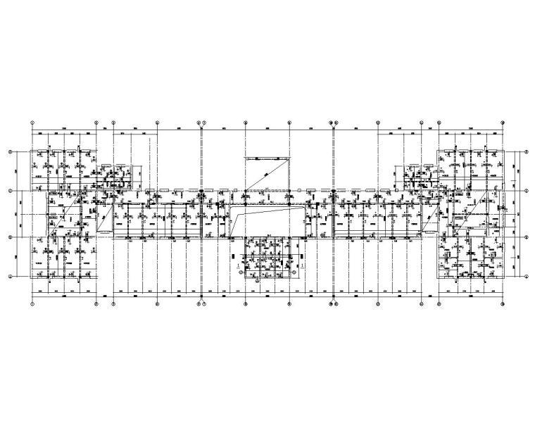 5层砖混结构学校教学楼施工图(CAD)