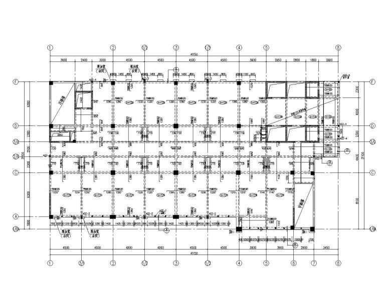 某五星级高层酒店三分区结构施工图(CAD)