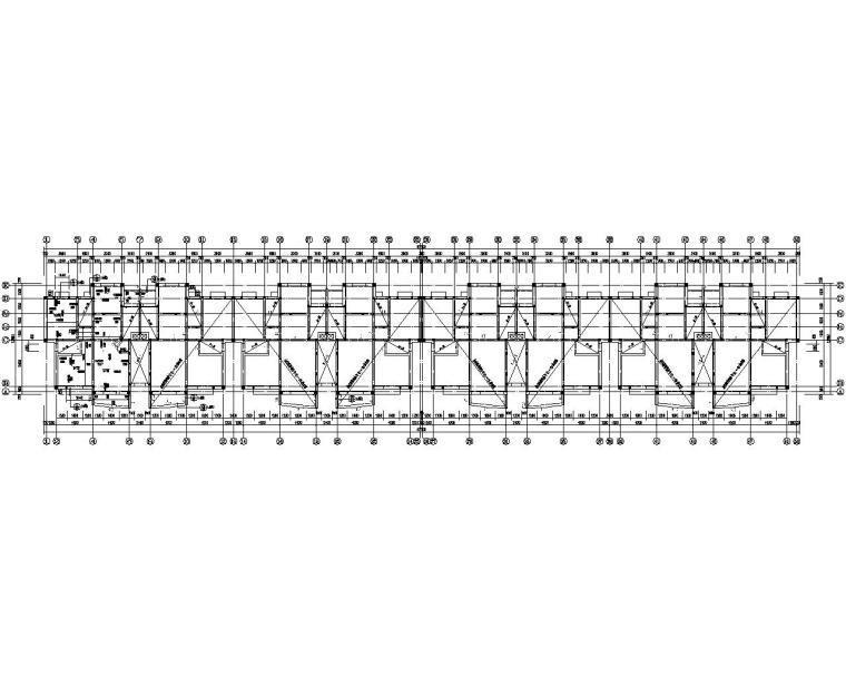 四层教师公寓砖混结构施工图(CAD)