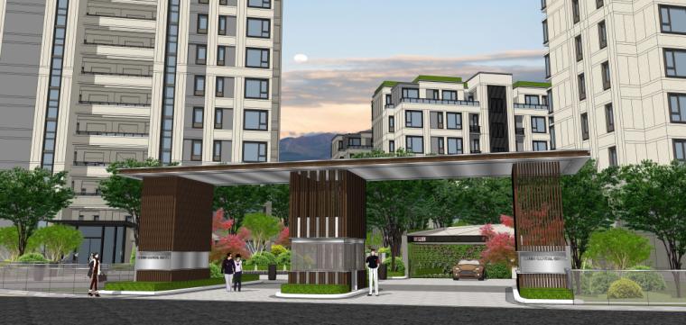 [浙江]绿都新古典风格居住区景观方案设计