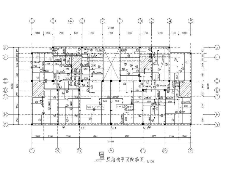 某七层住宅砖混结构施工图(CAD)