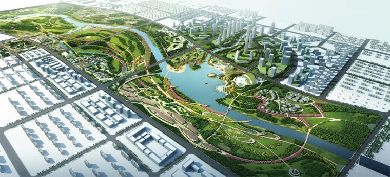 欧式独栋二层滨水资料下载-[河南]安阳大型滨水景观生态廊道景观方案