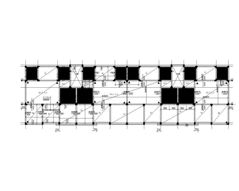 六层带阁楼住宅楼框架结构施工图(CAD)