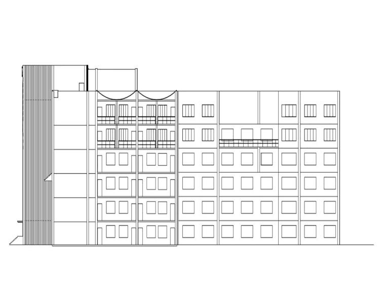 [哈尔滨]某七层酒店综合体设计图纸