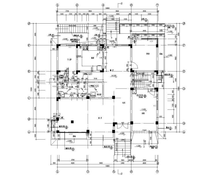 三层高端别墅结构施工图(CAD含建筑图)