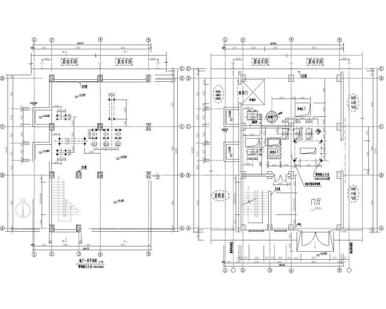 六层饲料车间钢框架结构施工图(CAD)