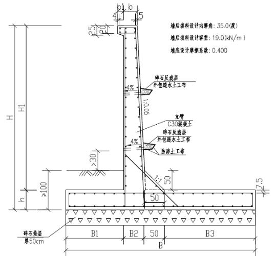 块石路肩砌筑施工方案资料下载-外环路道路工程悬臂式路肩墙专项施工方案