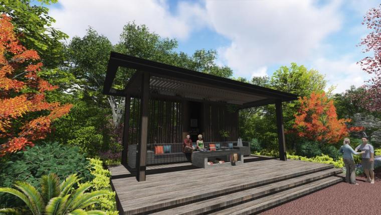 [浙江]新中式风格住宅景观深化设计