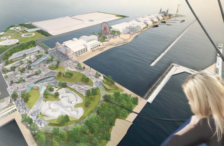 芝加哥海军码头建筑竞标方案(5套)