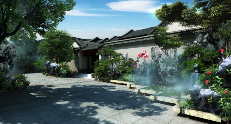 [北京]私人四合院中式庭院景观设计方案