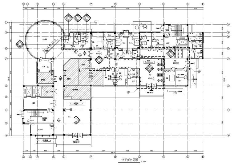 [广东]人民医院室内装饰设计项目施工图