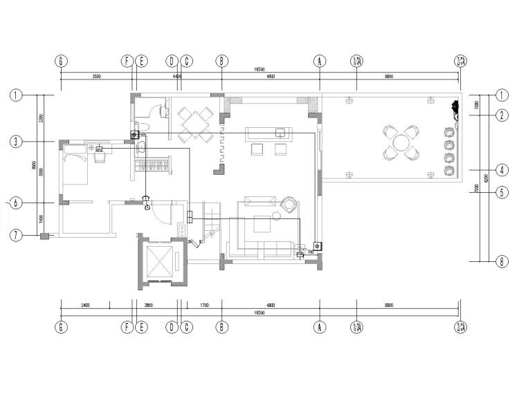 江西南昌某叠墅样板间装修项目电气图纸