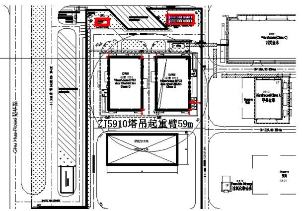 iv型钢板桩施工方案资料下载-ZJ5910型塔式起重机施工方案