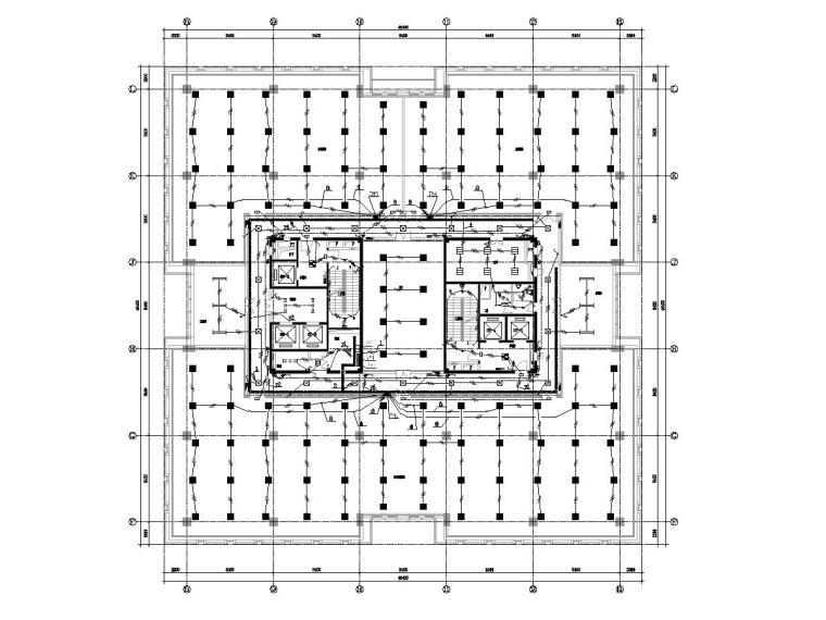 甲级院 浙江某文化馆室内装修工程电气图纸