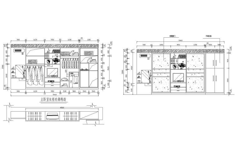 33款-室内衣柜装饰立面图例图块