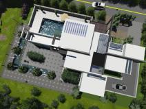 现代简约别墅类型建筑模型