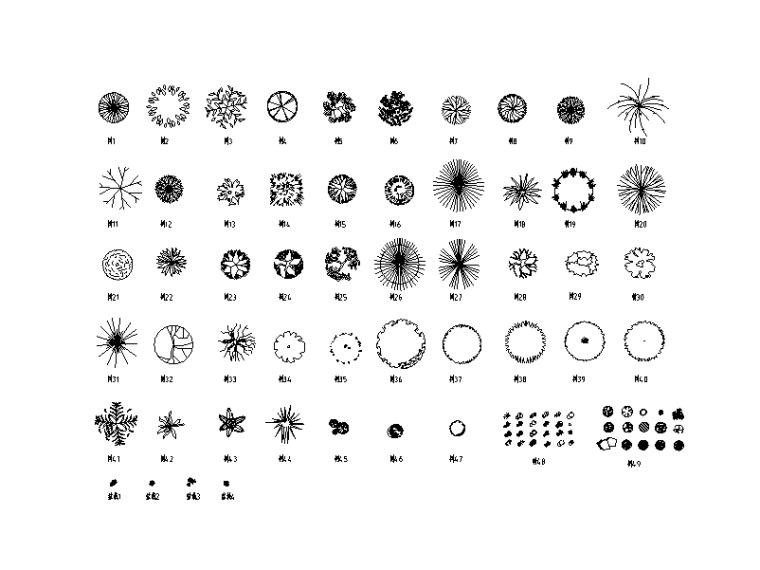 CAD平立面装饰图块材质库总图
