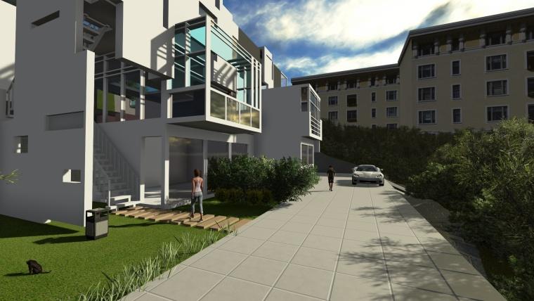现代简约别墅建筑模型