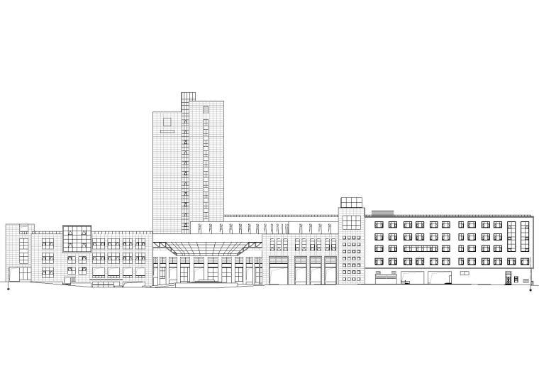 云南十五层框架结构酒店建筑工程项目施工图