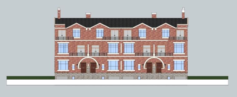 英伦别墅建筑模型