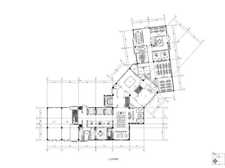 无锡中式风格二层售楼处施工图_附方案文本