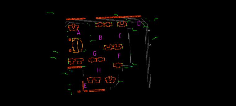 车库区段划分示意图