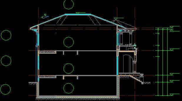 高层住宅、别墅主体及配套工程施工组织设计-30别墅楼栋施工流水段划分示意图