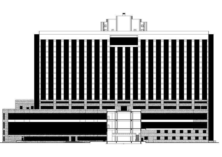 广州十五层大型五星级酒店建筑项目施工图