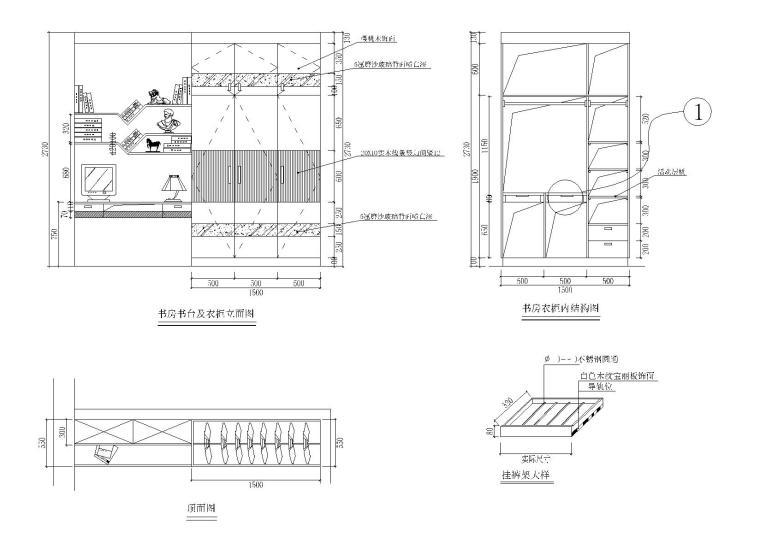39款-室内衣柜装饰立面图例图块6