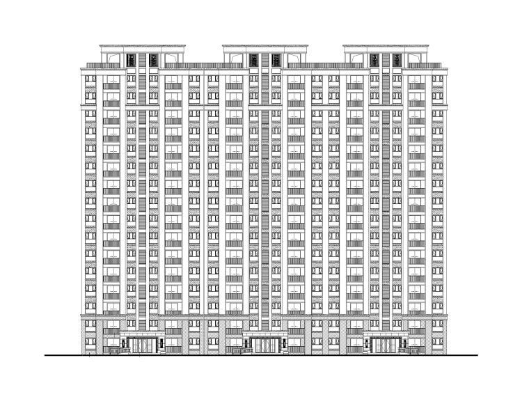 无锡某叠拼洋房+高层住宅全套施工图(CAD)