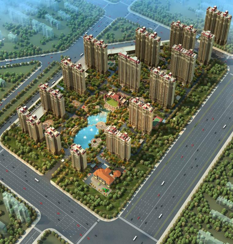 [武汉]剪力墙结构住宅工程钢筋专项施工方案-40工程效果图