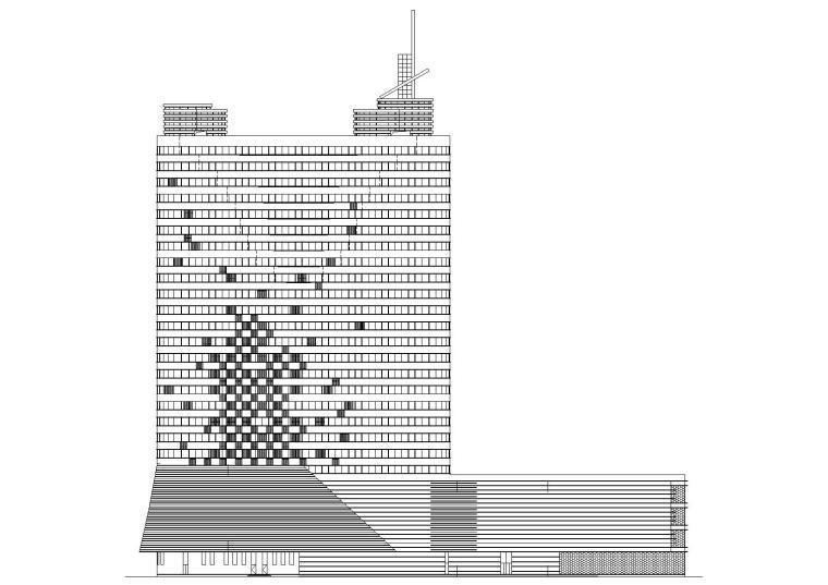 会泽县超高层框剪结构五星级酒店建筑施工图
