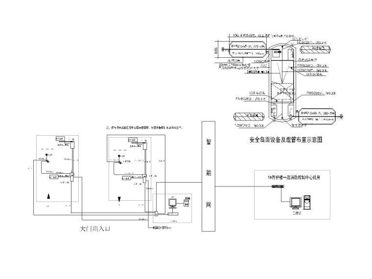 八套2020最新电气图纸_各类建筑-贵州省老年养护楼智能化设计图纸(2020)-停车管理系统图