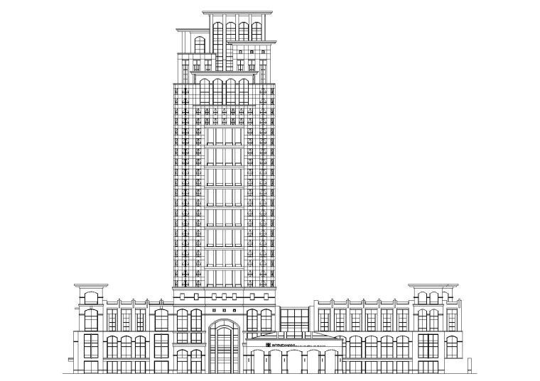 龙岗高层框架结构大酒店建筑工程项目施工图