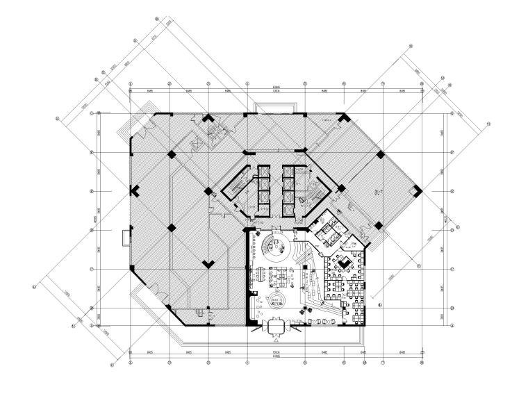 上海现代风格办公大厦五层裙房施工图_物料