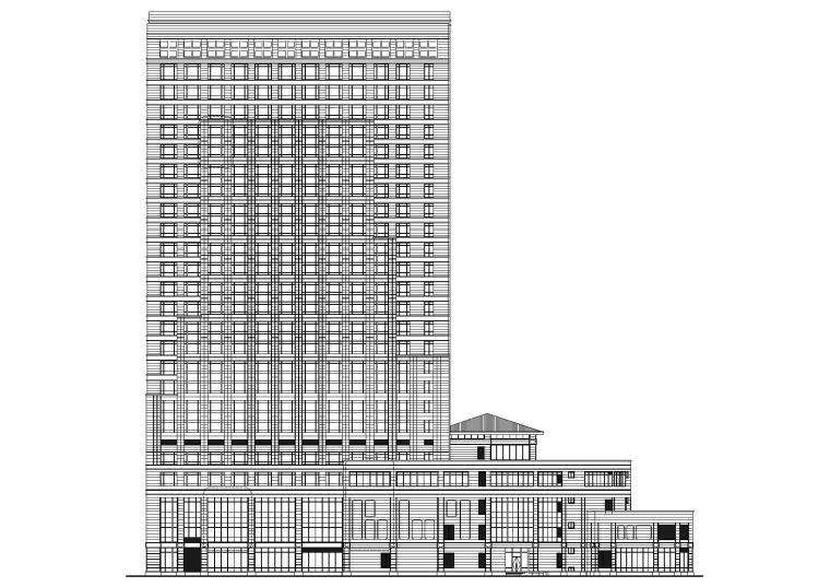 合肥二十四层高层框架结构酒店建筑施工图