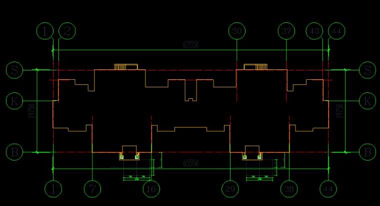36 16#楼-1、16#楼-2单元电梯布置定位图