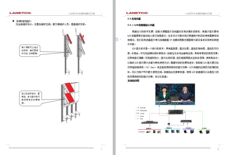LCD拼接大屏幕显示系统技术方案