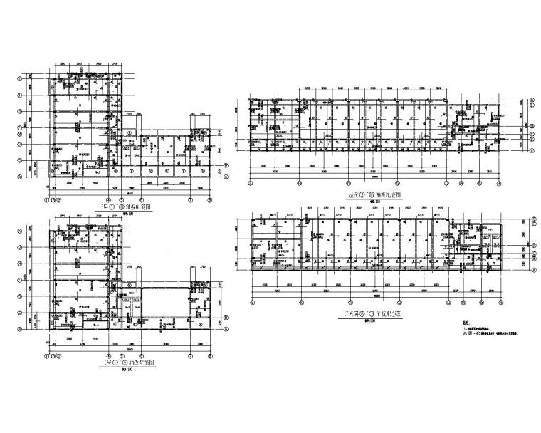 六层学校教学楼结构施工图(CAD)