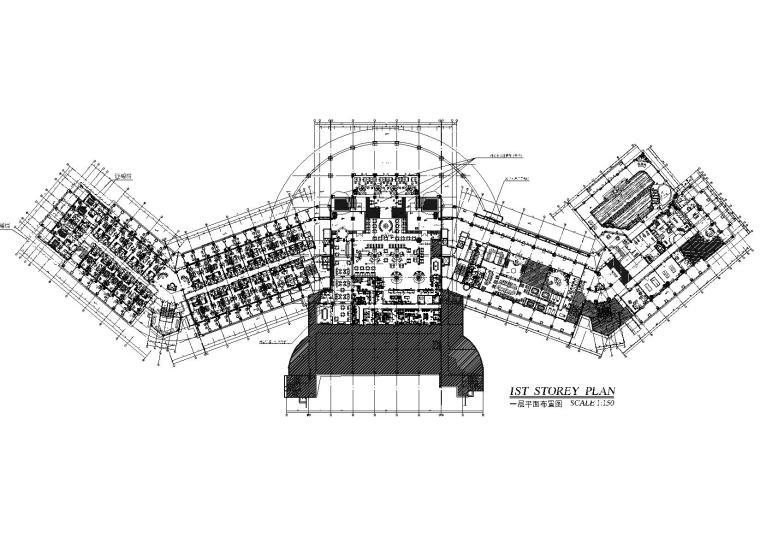 上海现代六层五星级酒店设计施工图+效果图