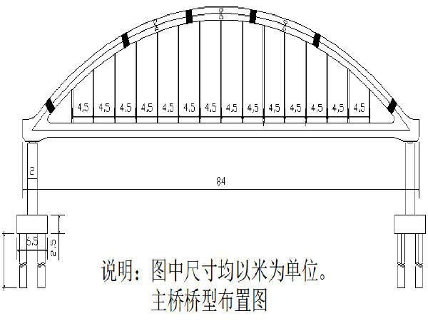 下承式系杆拱桥主跨上部工程施工组织设计