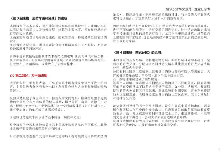4-建筑设计防火规范 · 速查汇总表-大平面说明