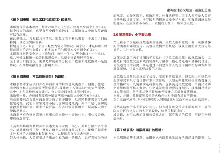 5-建筑设计防火规范 · 速查汇总表-小平面说明