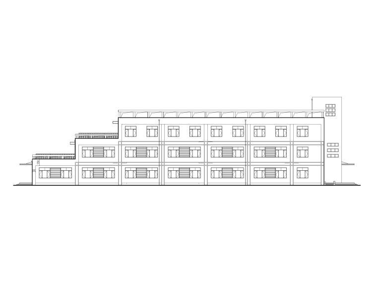 河北某中学新校区框架结构办公楼建筑施工图
