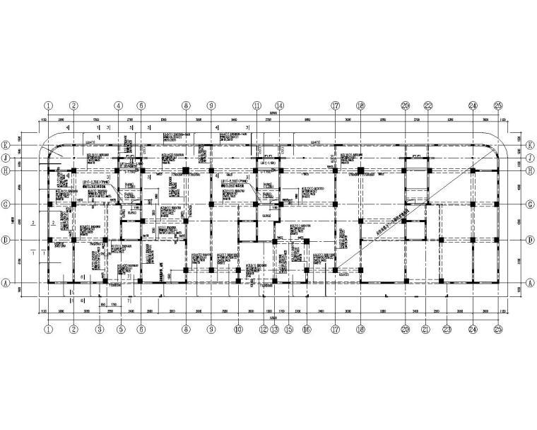 框剪住宅结构资料下载-17层高层住宅混凝土框剪结构施工图(CAD)