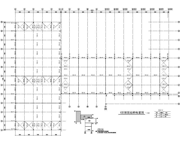 某门式刚架厂房结构施工图(CAD)