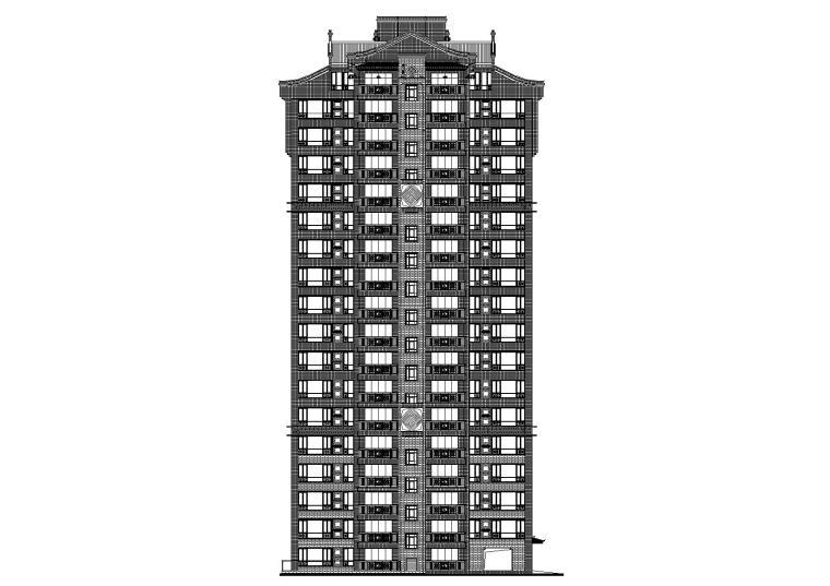 柳州住宅小区工程十八层住宅楼建筑施工图