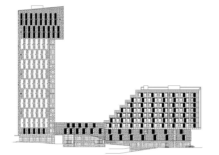 成都二十五层核心筒结构办公建筑项目施工图