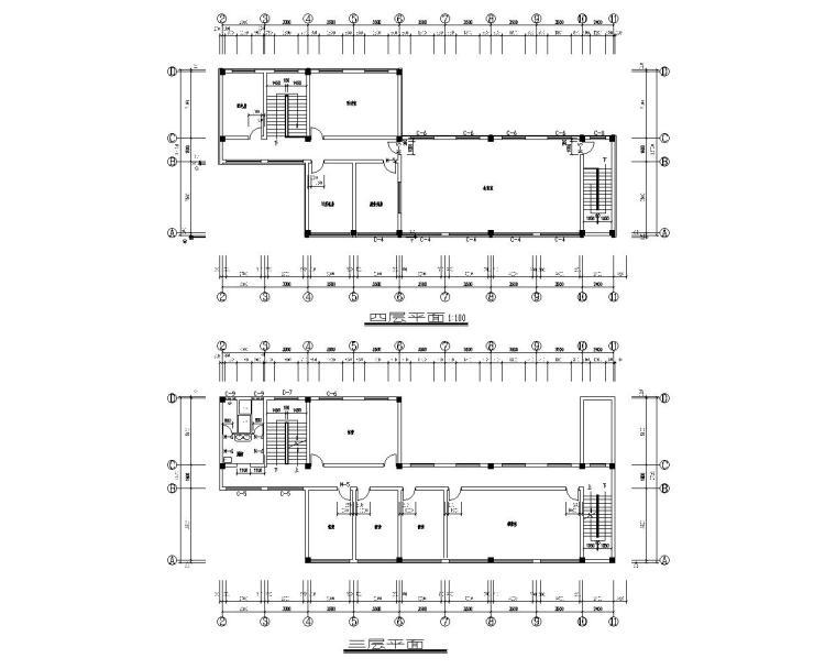四层商业办公楼结构施工图(CAD含建筑图)
